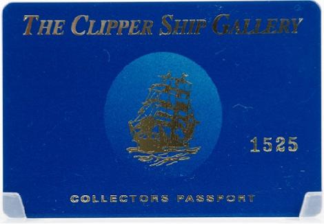 The Clipper Ship Gallery Customer Appreciation Card