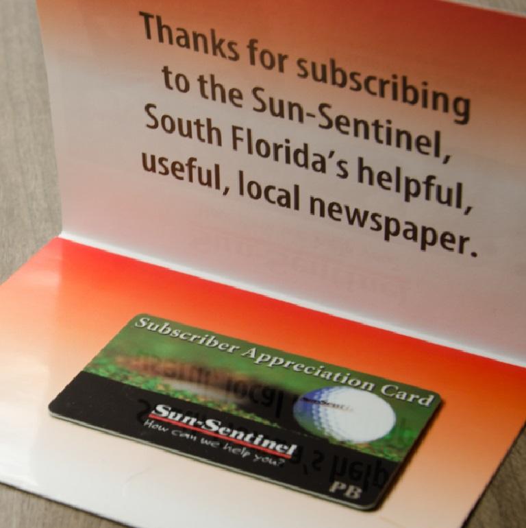 Sun-Sentinal Trifold Mailer