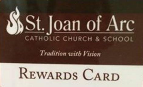Fund Raiser Card for St Joan of Arc School in Lisle IL