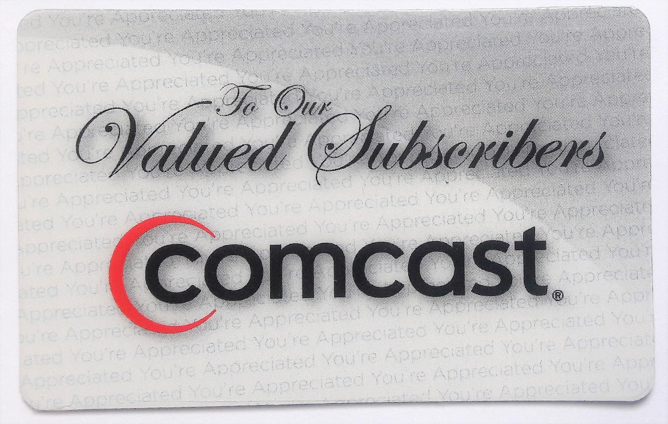 Comcast employee appreciation rewards card