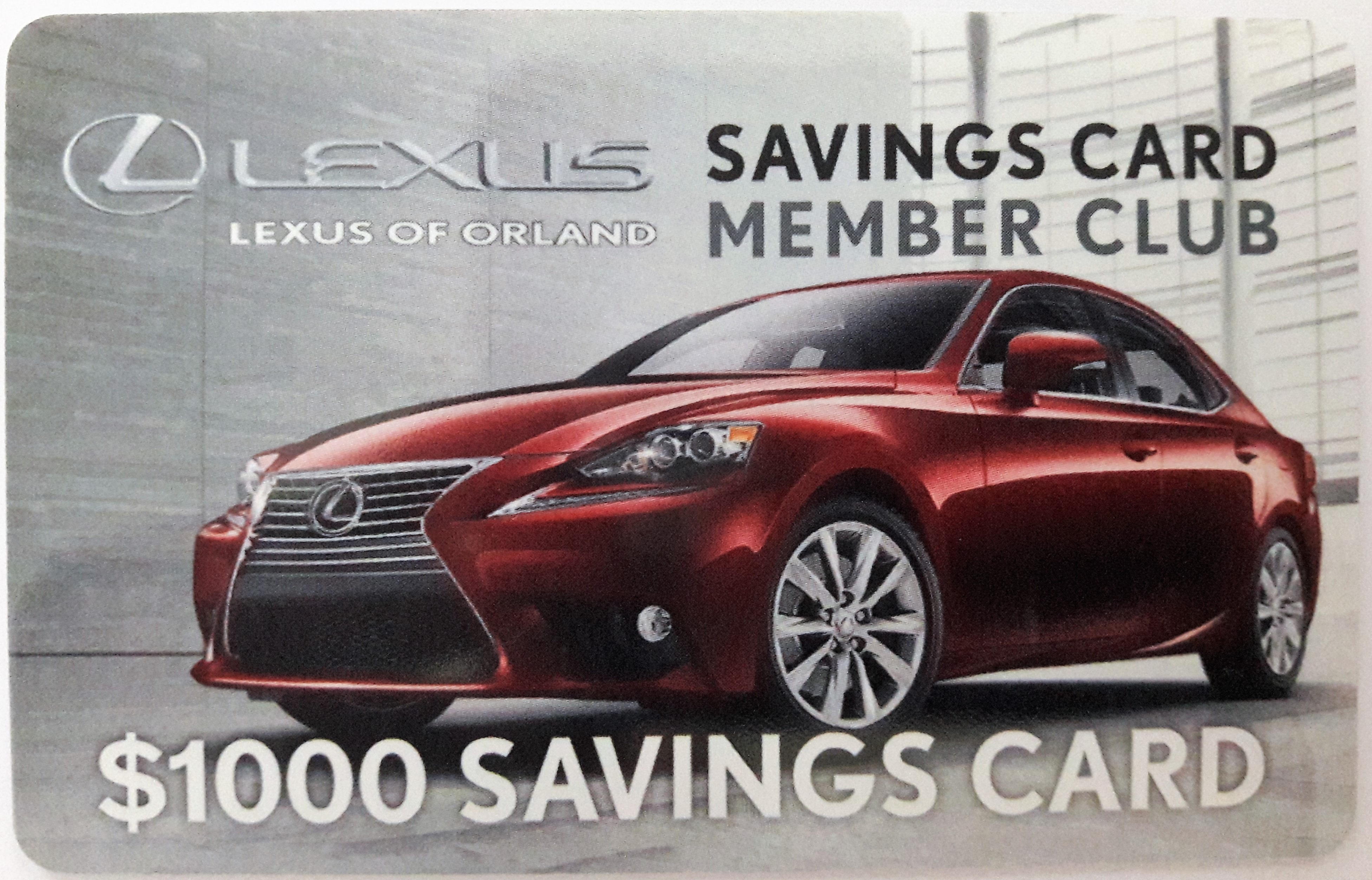 Lexus of orland employee appreciation cards