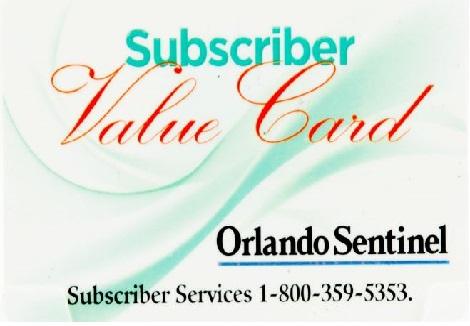 Orlando-Sentinel customer retention rewards card